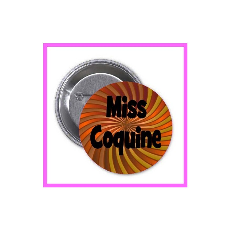 badge pins Miss coquine enterrement vie fille