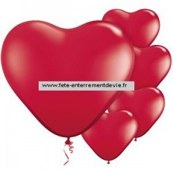 ballons coeur rouge EVJF