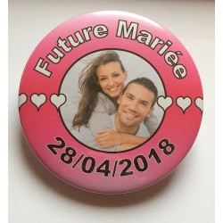 Badge future mariée EVJF photo