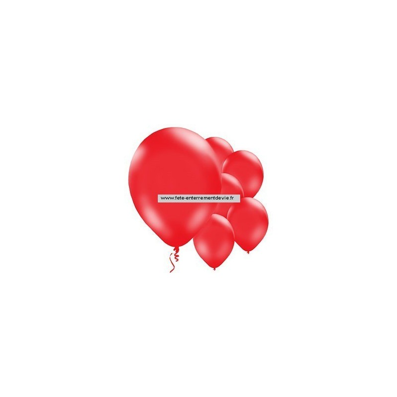 ballons EVJF rouge