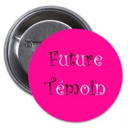 Badge témoin EVJF rose