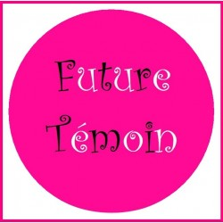 Badge future témoin EVJF rose