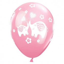 ballons baby shower rose fille